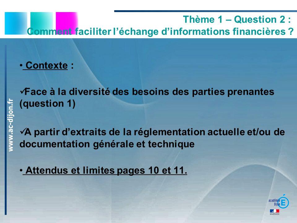 Comment faciliter l'échange d'informations financières