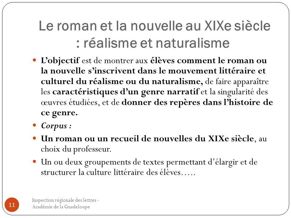 Le roman et la nouvelle au XIXe siècle : réalisme et naturalisme