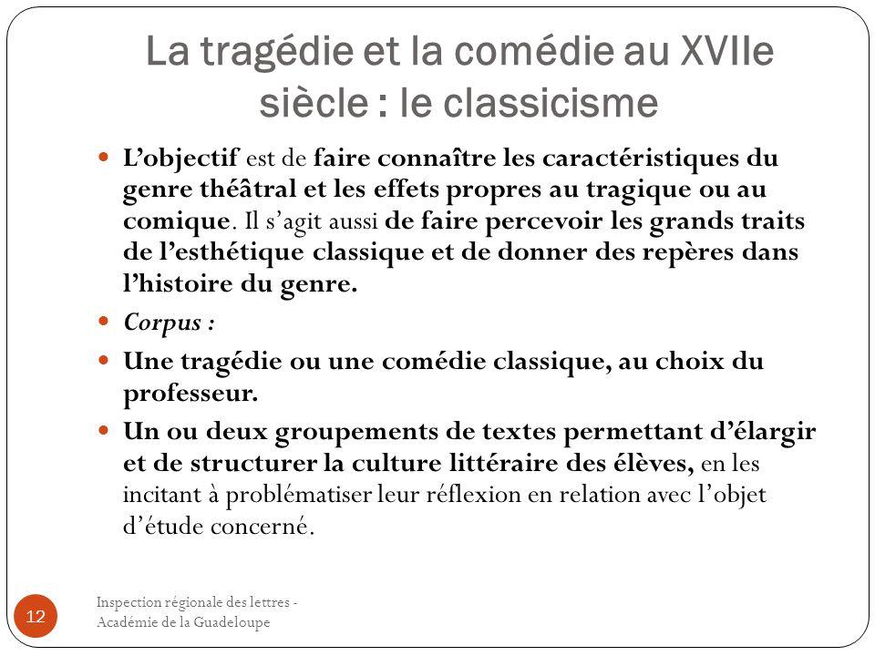 La tragédie et la comédie au XVIIe siècle : le classicisme