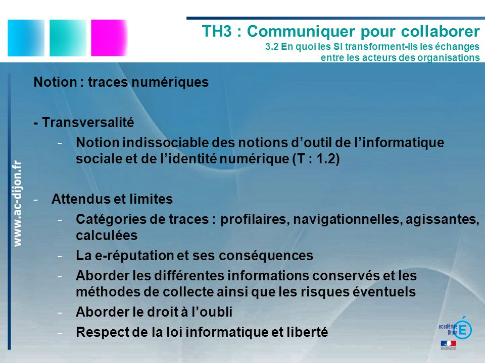TH3 : Communiquer pour collaborer 3