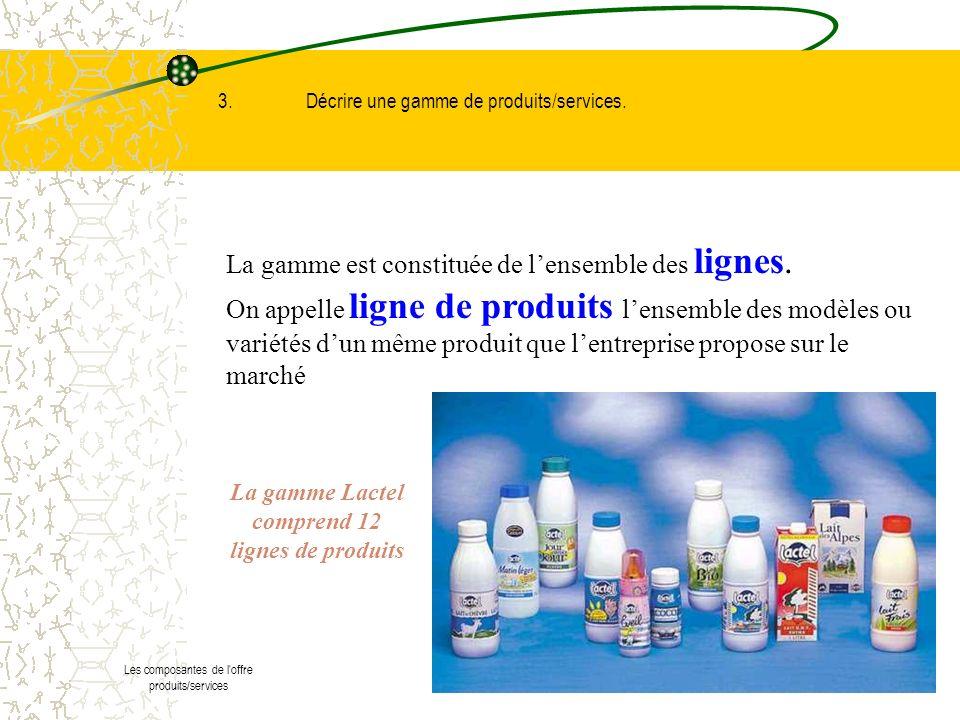 La gamme Lactel comprend 12 lignes de produits