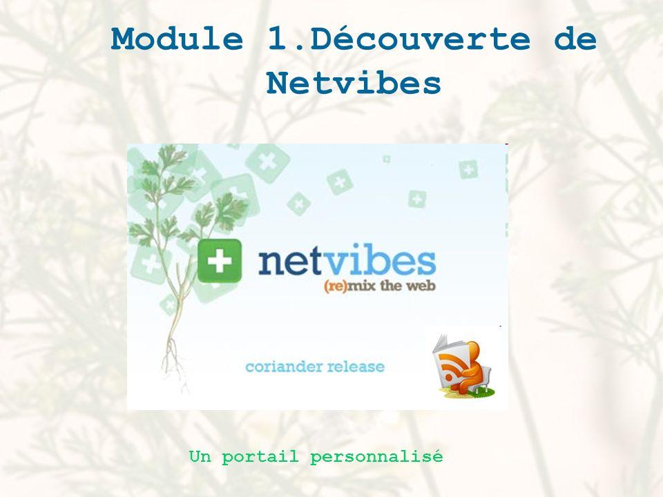 Module 1.Découverte de Netvibes Un portail personnalisé