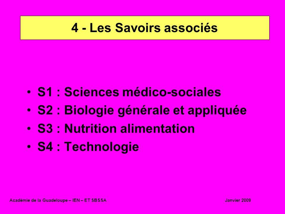 S1 : Sciences médico-sociales S2 : Biologie générale et appliquée