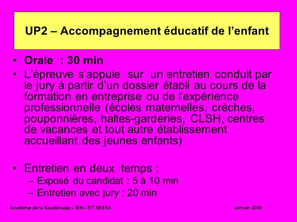 UP2 – Accompagnement éducatif de l'enfant