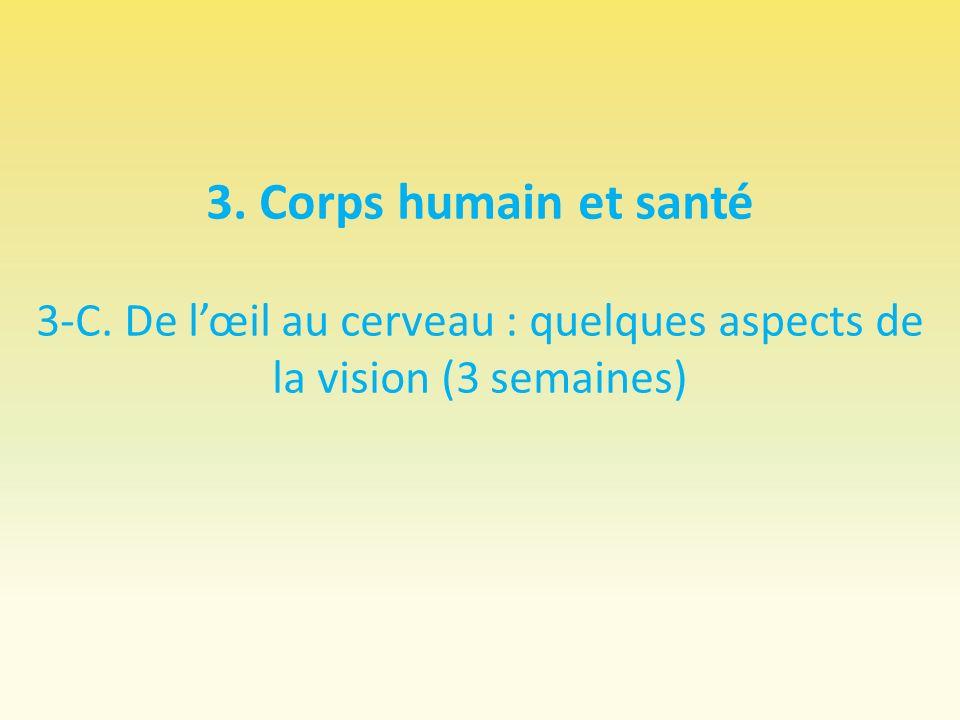 3. Corps humain et santé 3-C