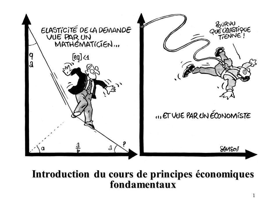 Introduction du cours de principes économiques fondamentaux