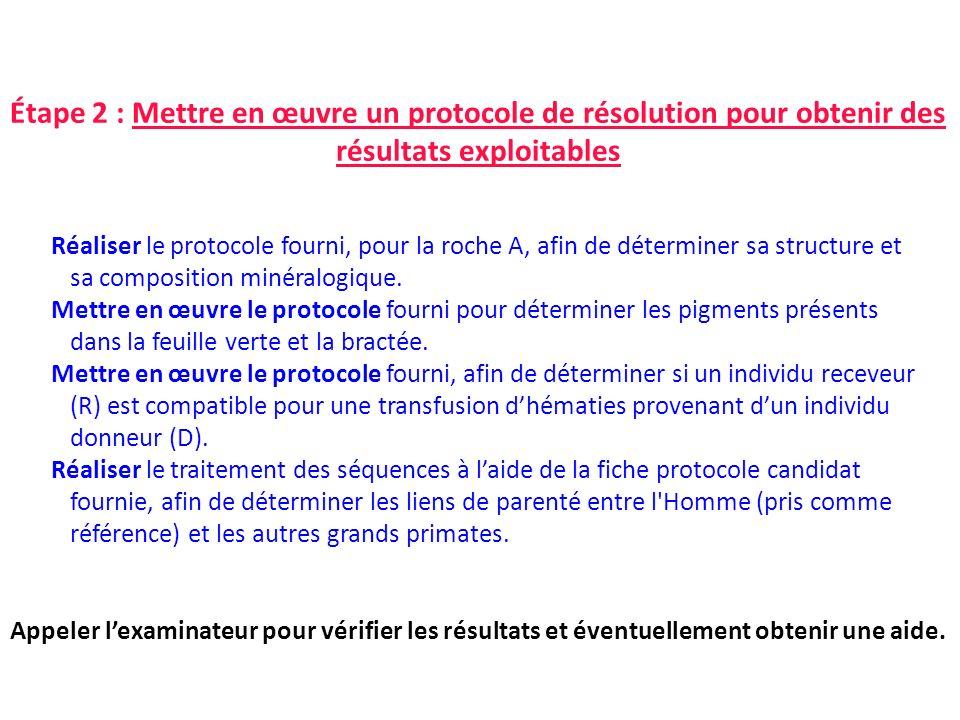 Étape 2 : Mettre en œuvre un protocole de résolution pour obtenir des résultats exploitables