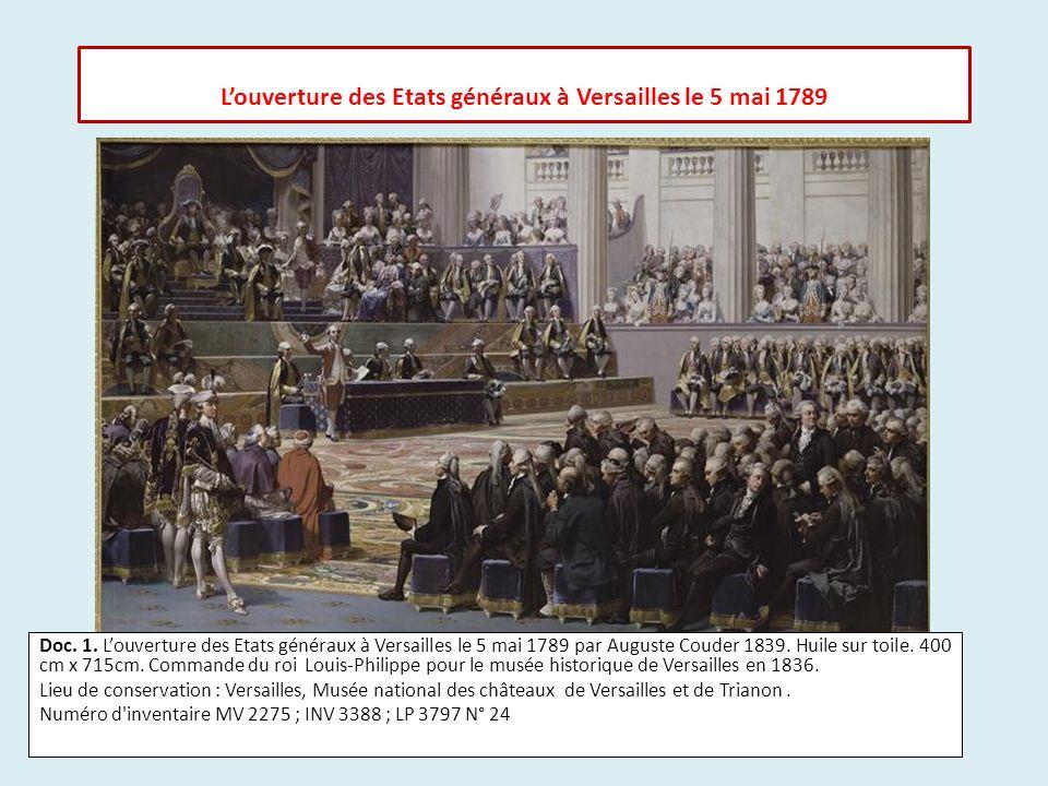 L'ouverture des Etats généraux à Versailles le 5 mai 1789