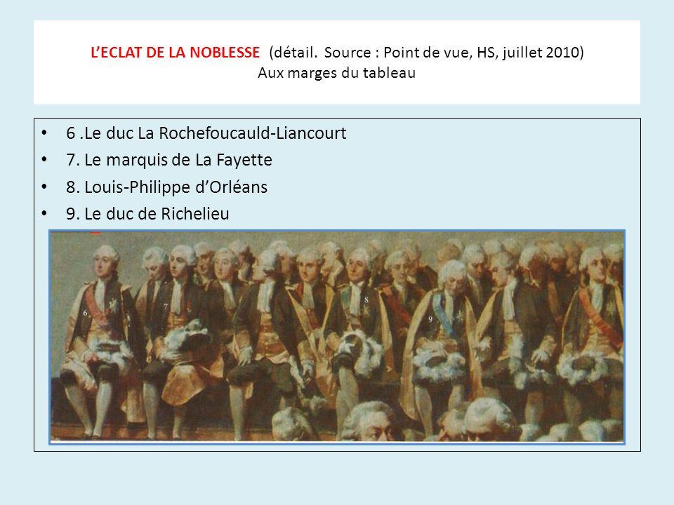 6 .Le duc La Rochefoucauld-Liancourt 7. Le marquis de La Fayette
