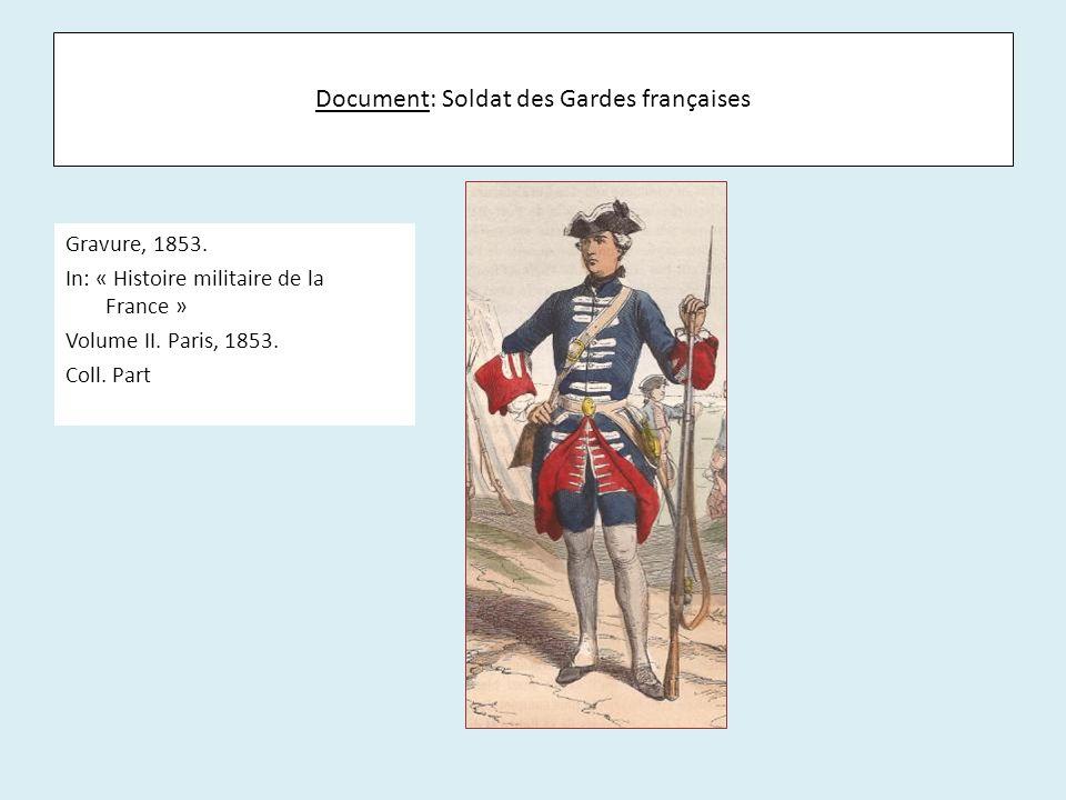 Document: Soldat des Gardes françaises