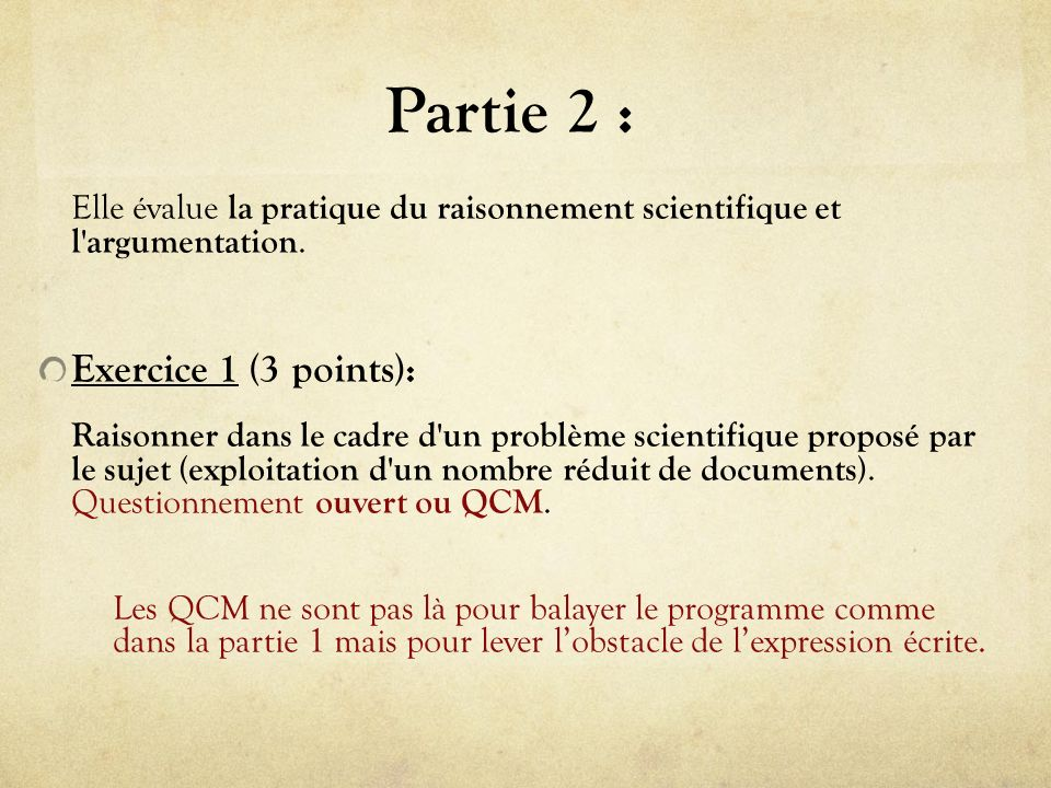 Partie 2 : Exercice 1 (3 points):
