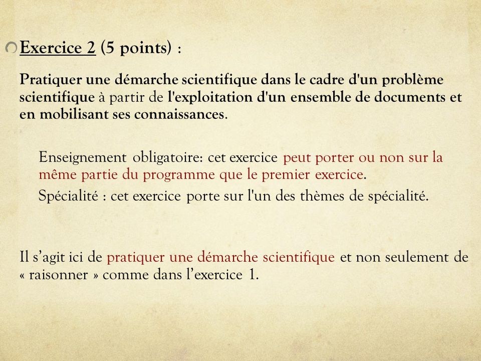 Exercice 2 (5 points) :