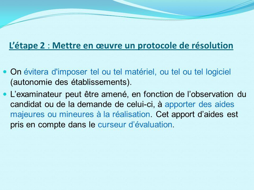 L'étape 2 : Mettre en œuvre un protocole de résolution