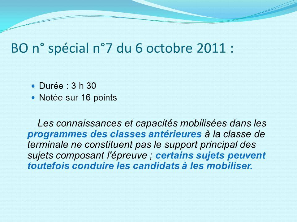 BO n° spécial n°7 du 6 octobre 2011 :