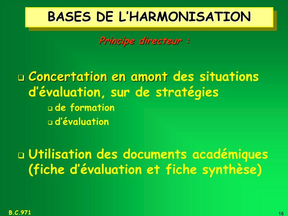 BASES DE L'HARMONISATION