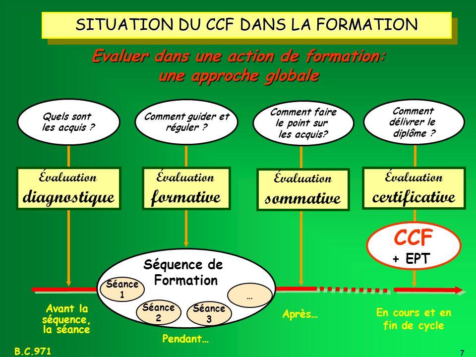 CCF diagnostique formative sommative certificative