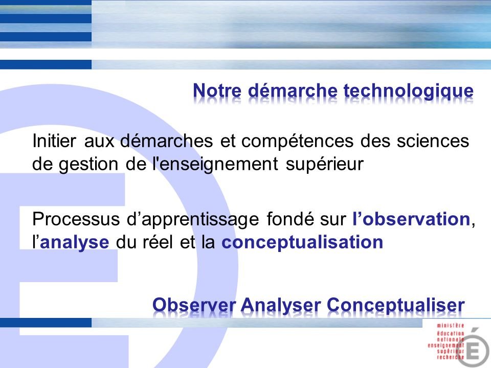 Observer Analyser Conceptualiser