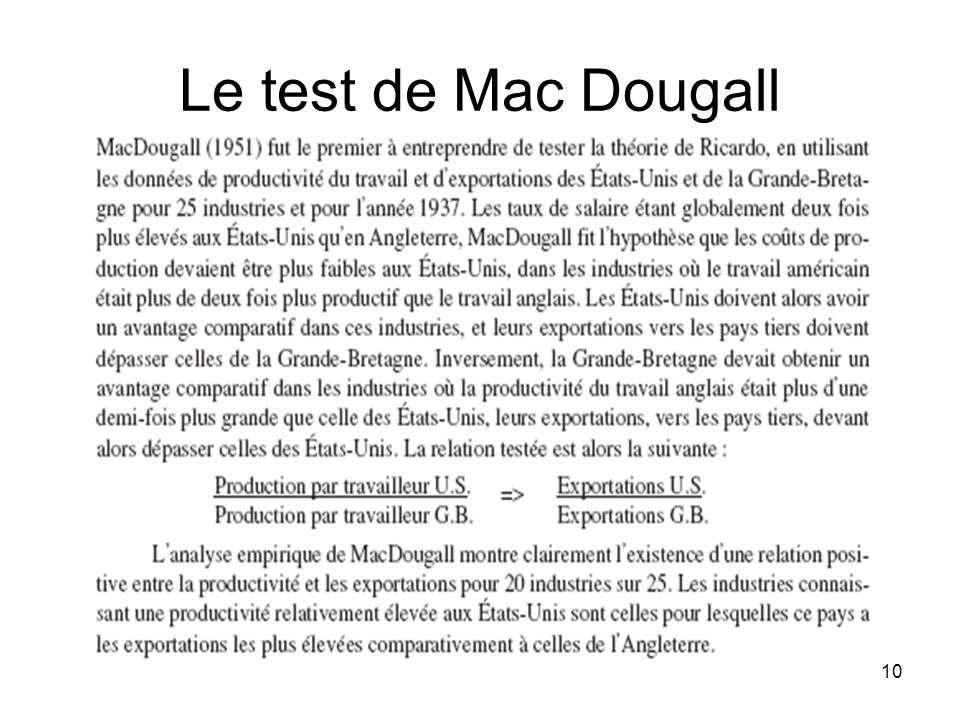 Le test de Mac Dougall