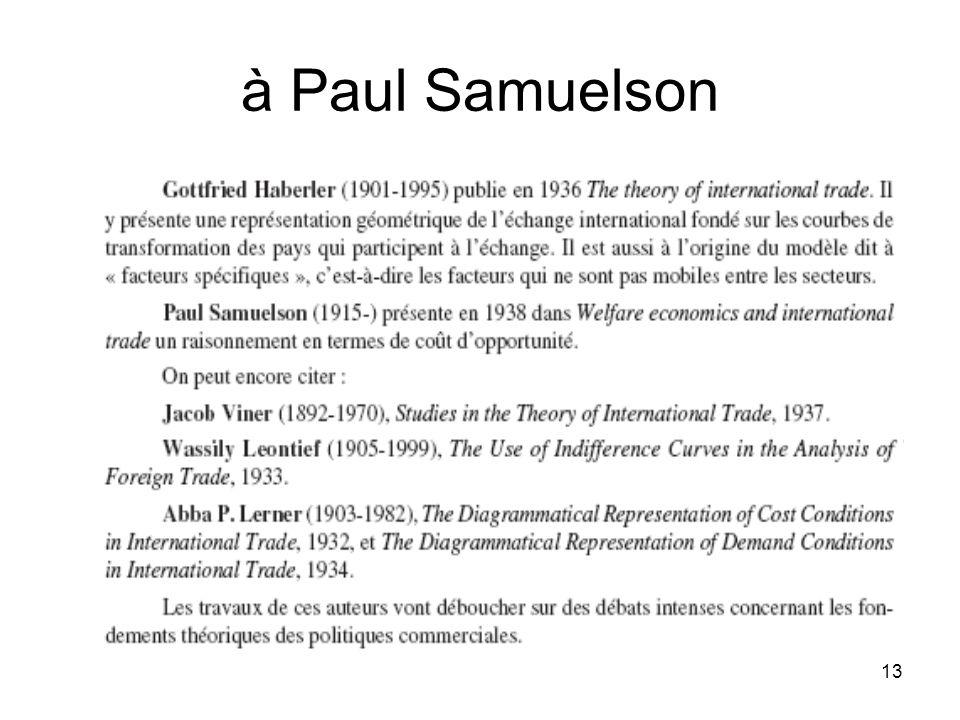 à Paul Samuelson