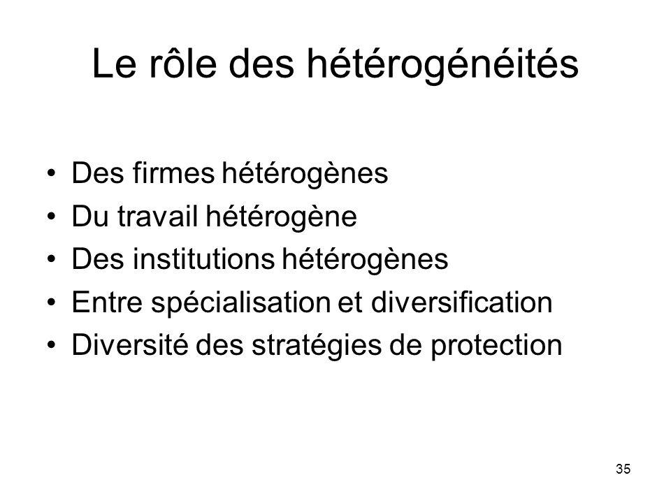 Le rôle des hétérogénéités