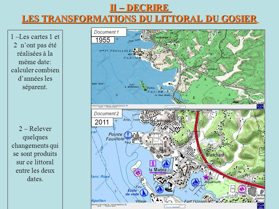 LES TRANSFORMATIONS DU LITTORAL DU GOSIER
