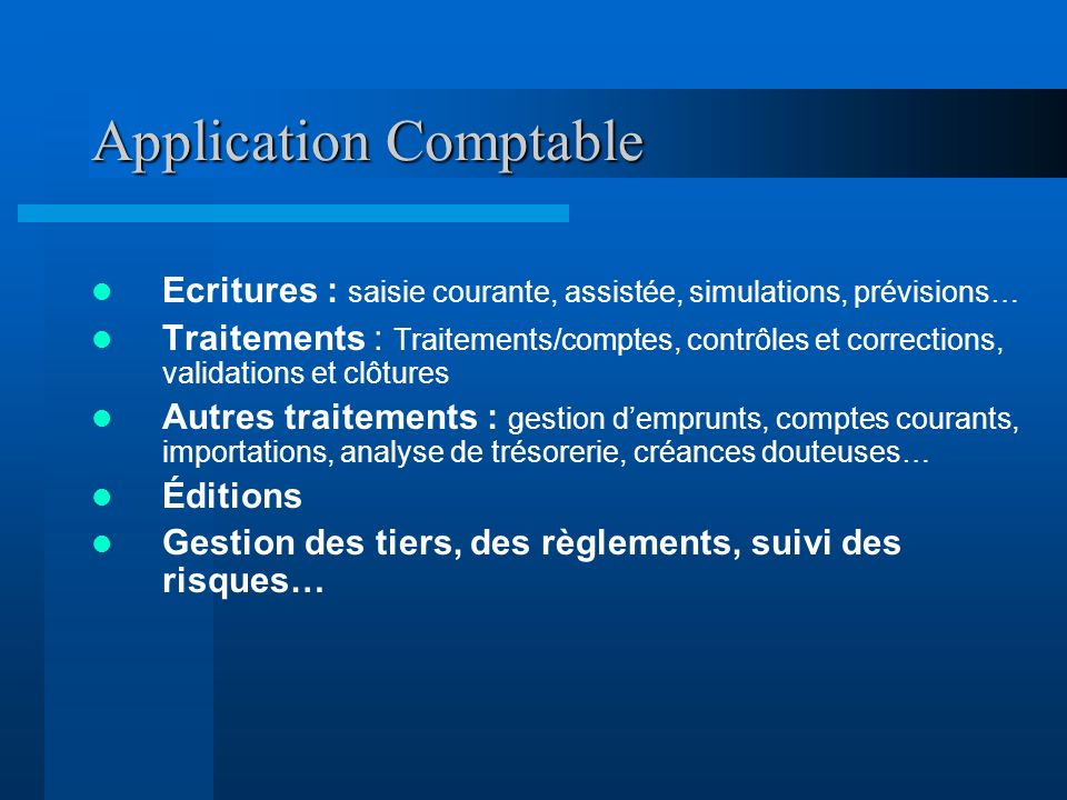 Application Comptable
