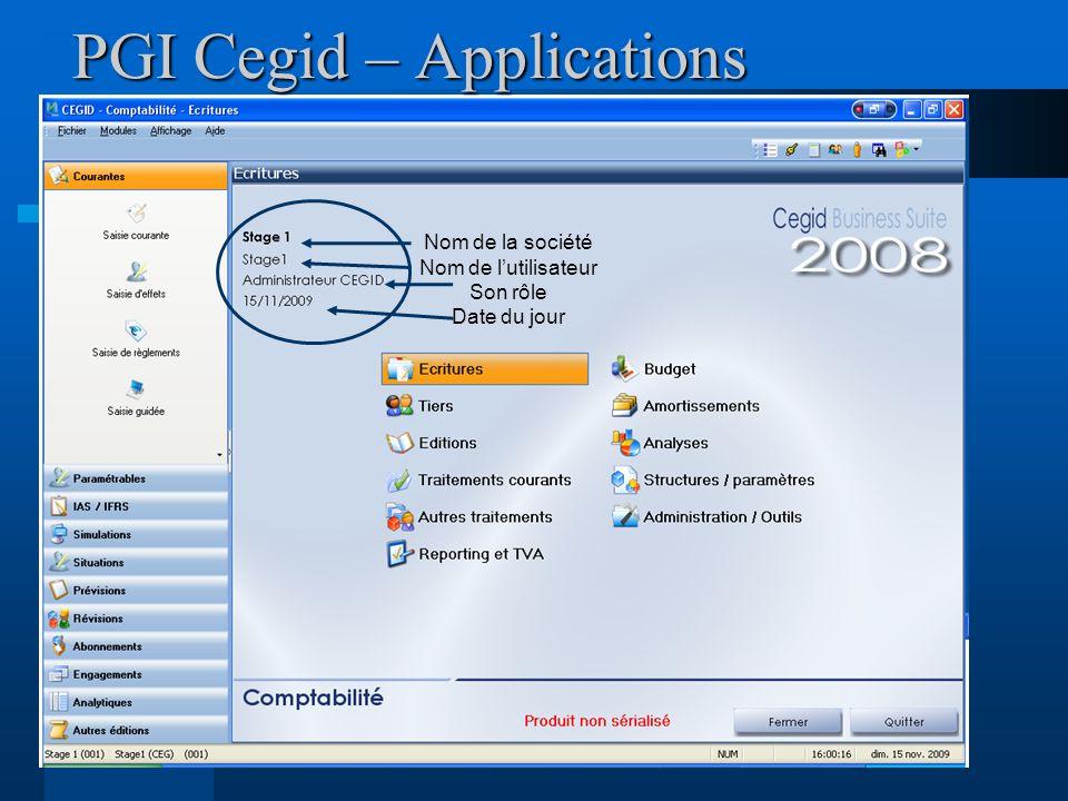 PGI Cegid – Applications