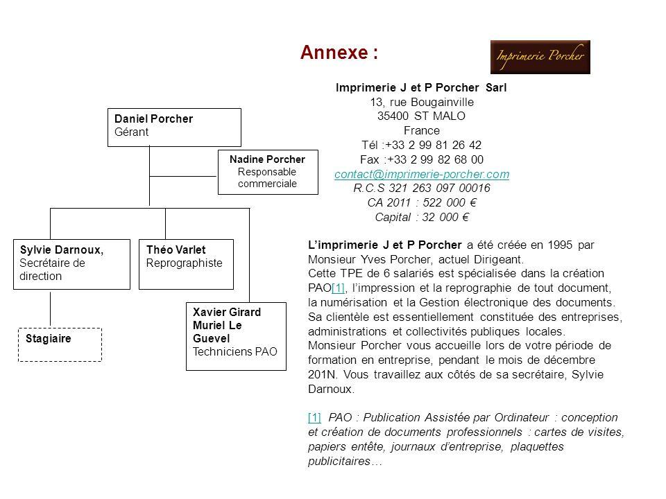 Imprimerie J et P Porcher Sarl