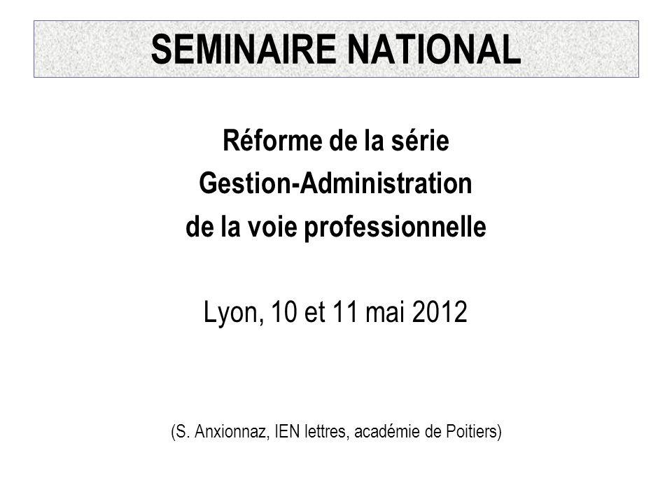 Gestion-Administration de la voie professionnelle