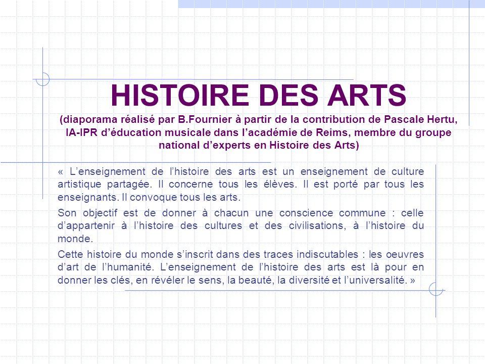 HISTOIRE DES ARTS (diaporama réalisé par B