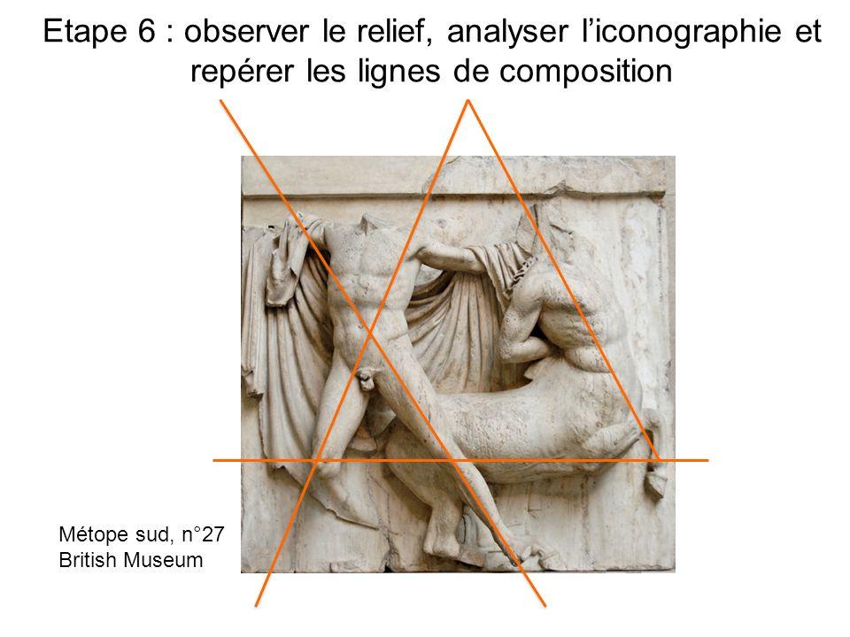 Etape 6 : observer le relief, analyser l'iconographie et repérer les lignes de composition