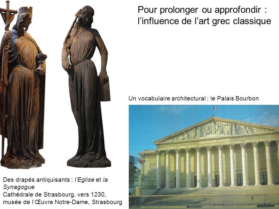 Pour prolonger ou approfondir : l'influence de l'art grec classique
