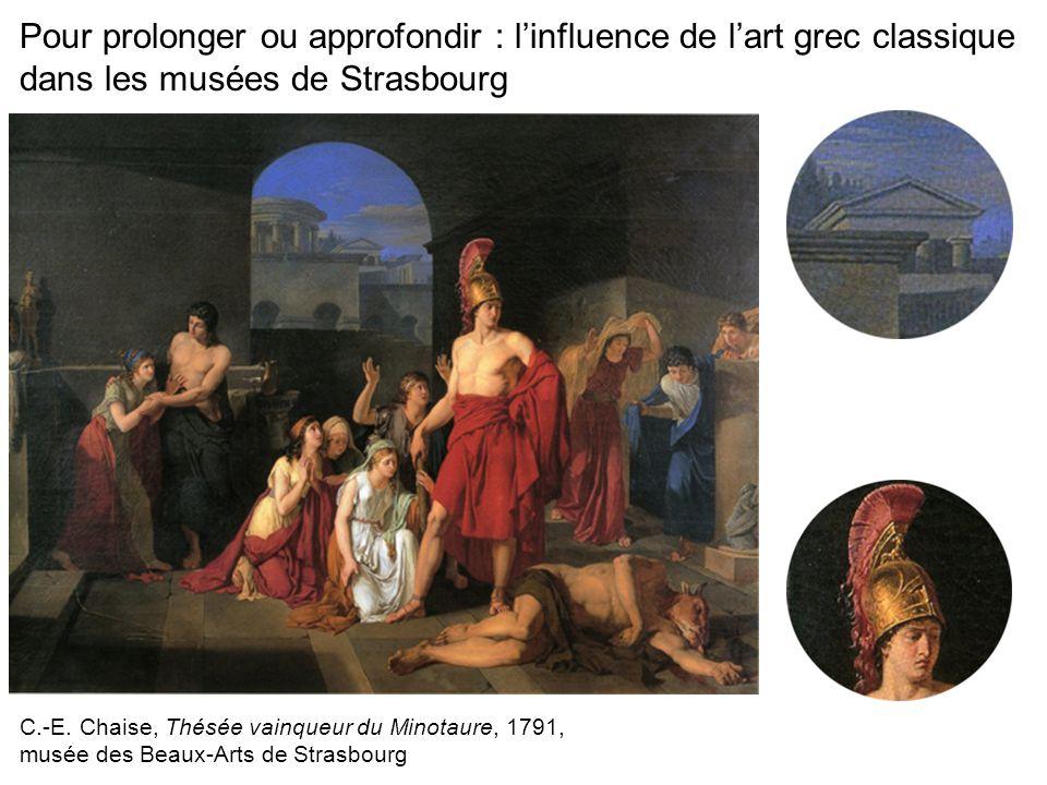 Pour prolonger ou approfondir : l'influence de l'art grec classique dans les musées de Strasbourg
