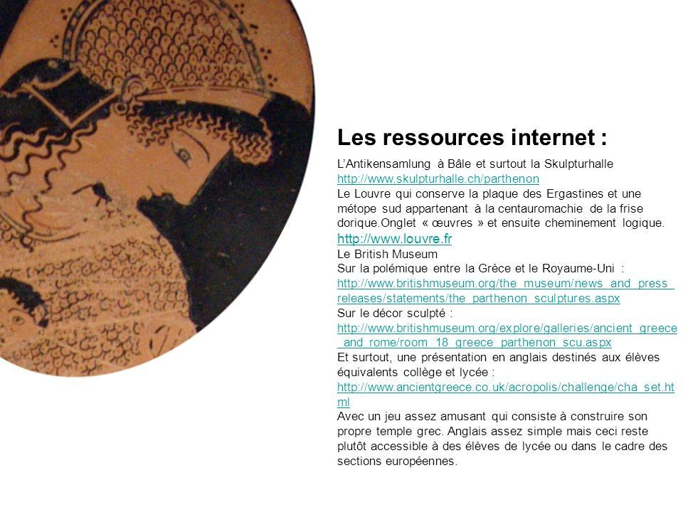 Les ressources internet :