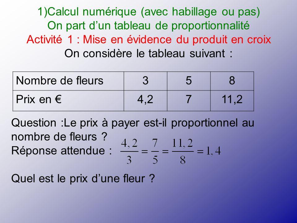 Calcul numérique (avec habillage ou pas)