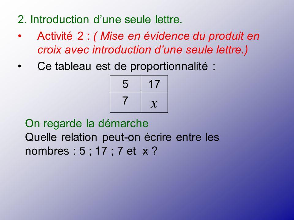 x 2. Introduction d'une seule lettre.