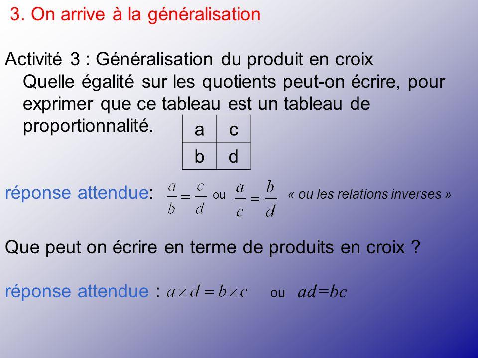 3. On arrive à la généralisation