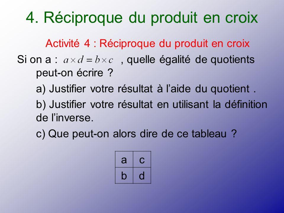 4. Réciproque du produit en croix