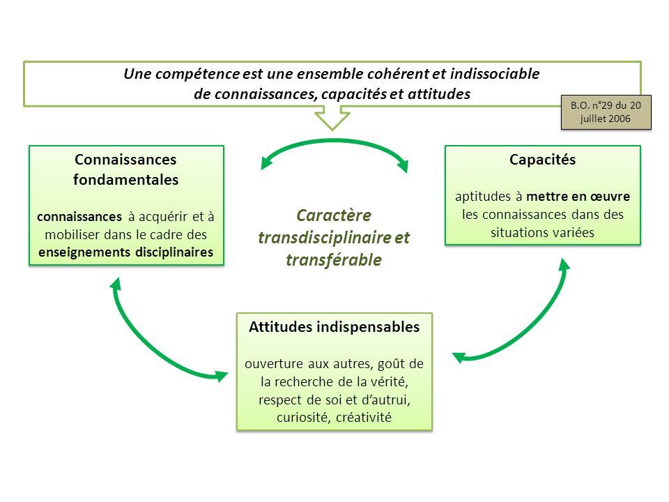 Caractère transdisciplinaire et transférable