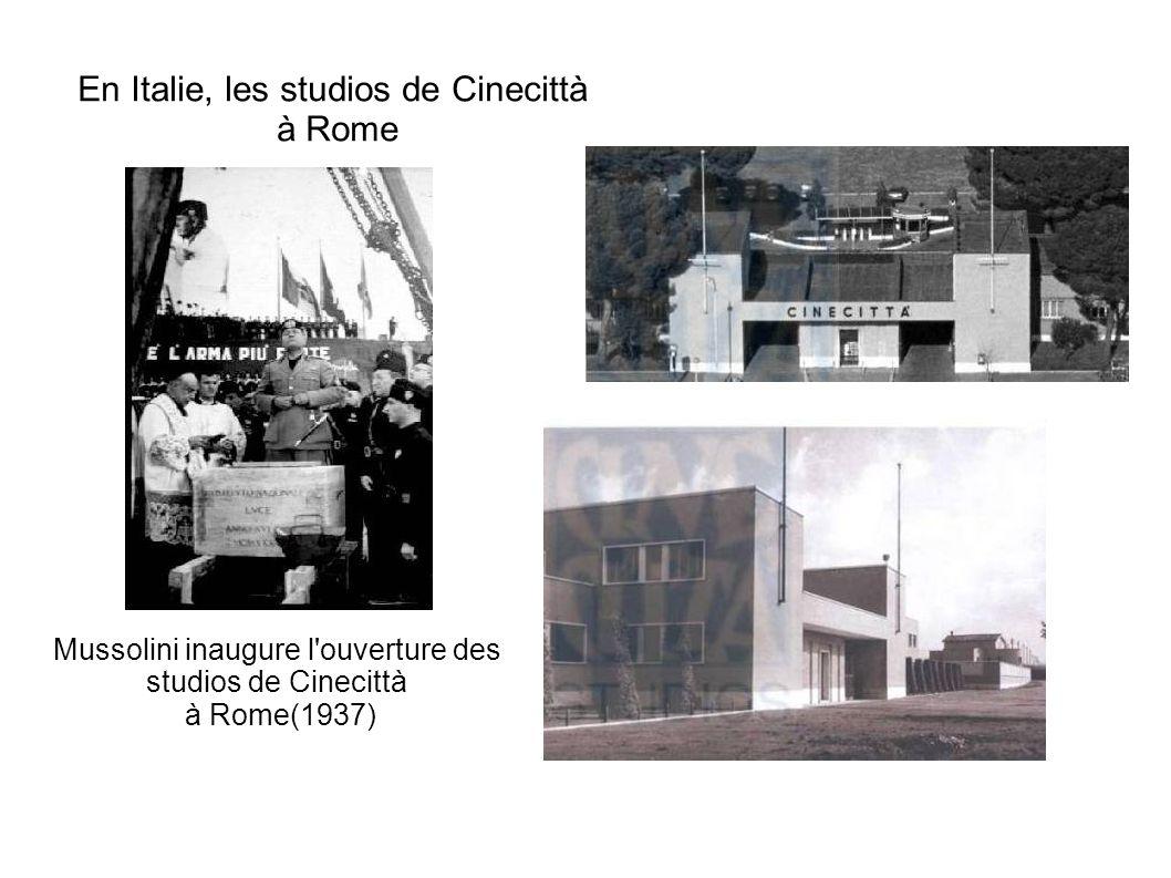 En Italie, les studios de Cinecittà à Rome