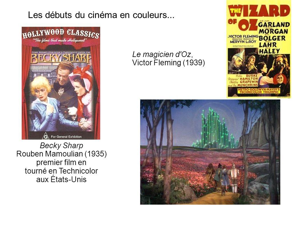 Les débuts du cinéma en couleurs...
