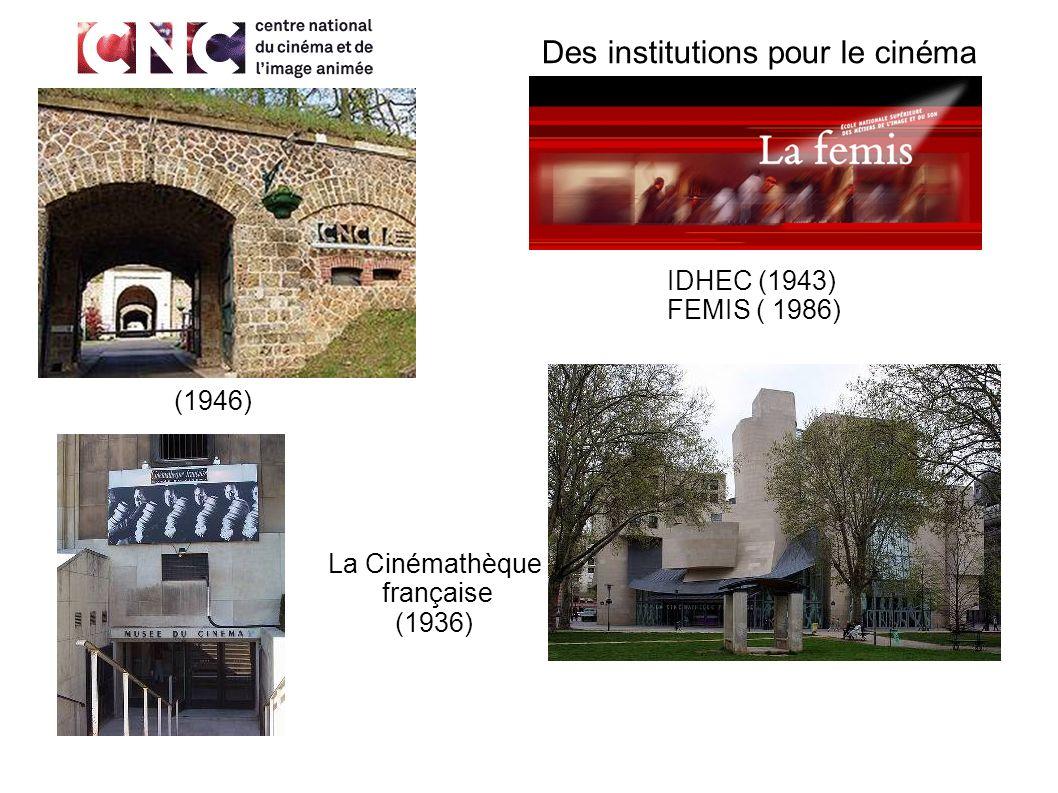 Des institutions pour le cinéma