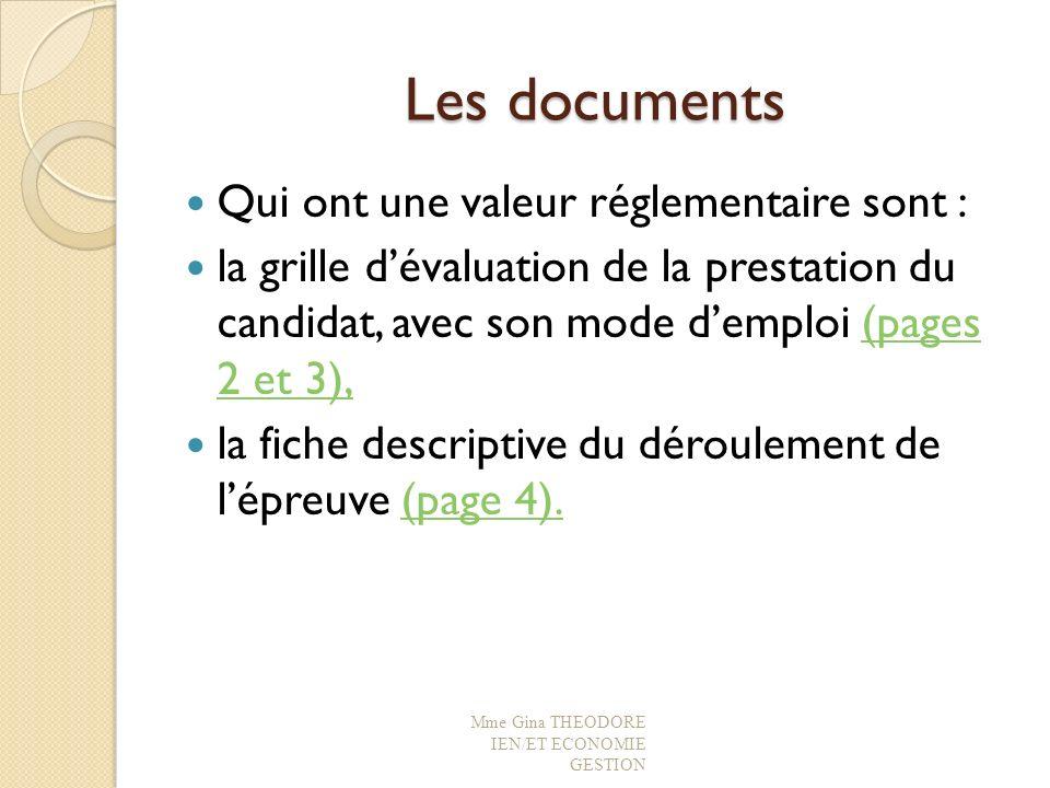 Les documents Qui ont une valeur réglementaire sont :