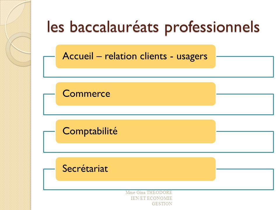 les baccalauréats professionnels