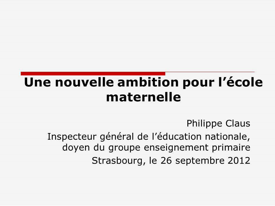 Une nouvelle ambition pour l'école maternelle