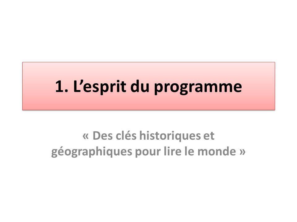 « Des clés historiques et géographiques pour lire le monde »