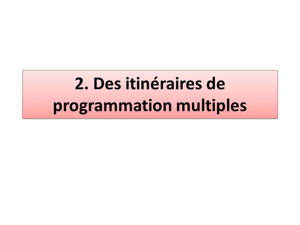 2. Des itinéraires de programmation multiples