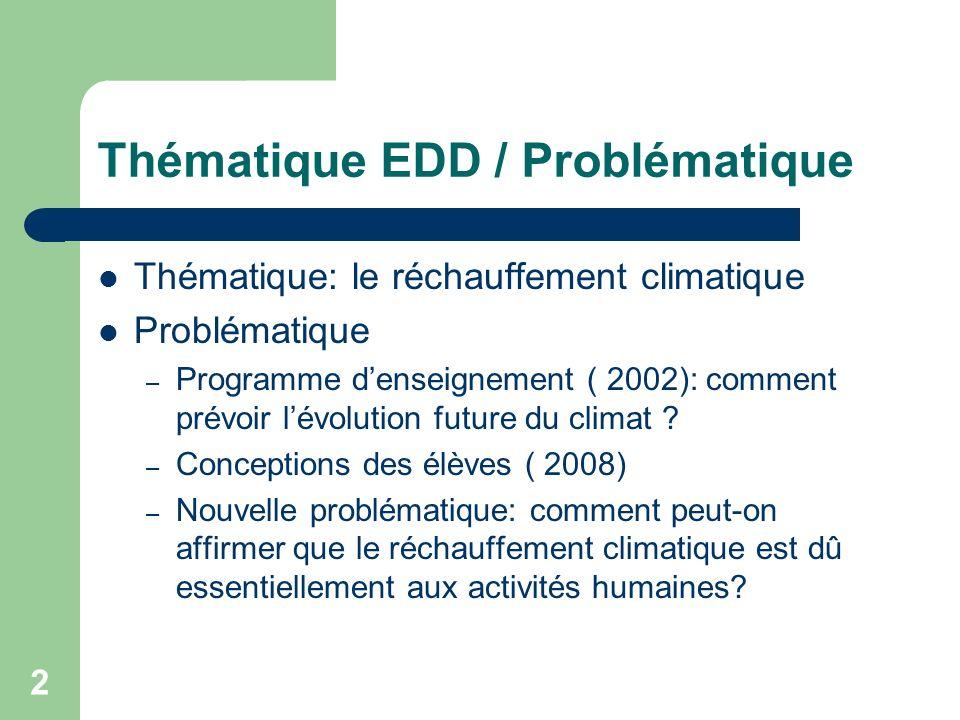 Thématique EDD / Problématique