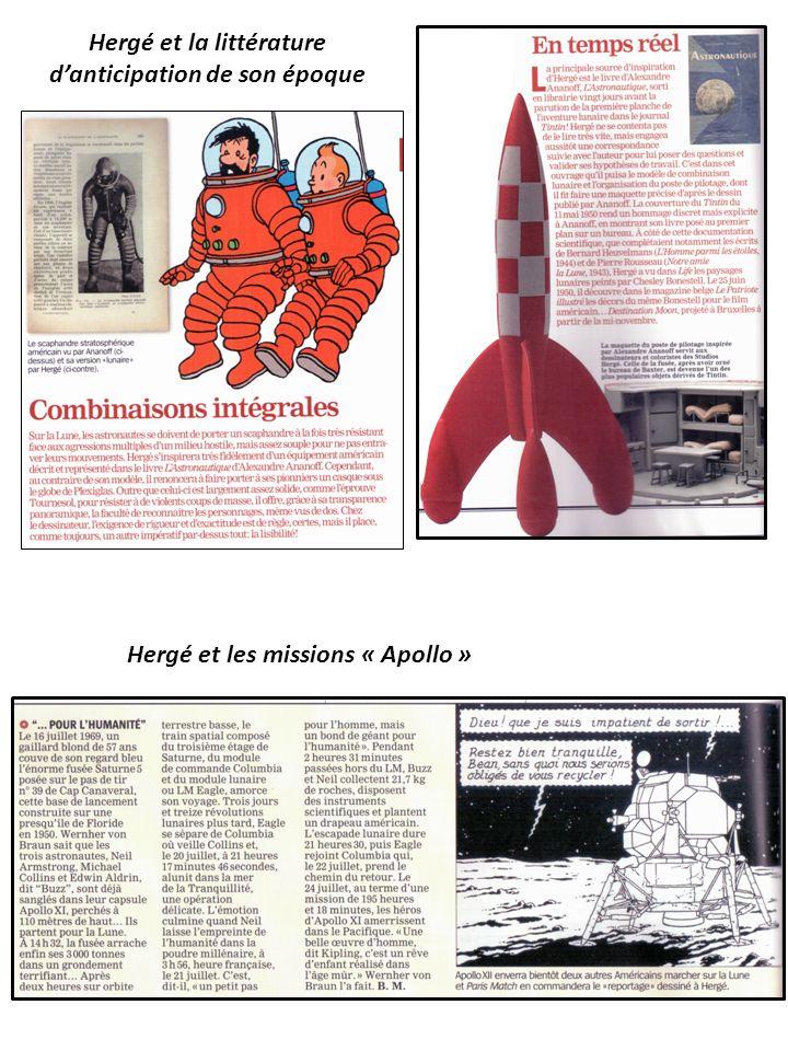 Hergé et la littérature d'anticipation de son époque