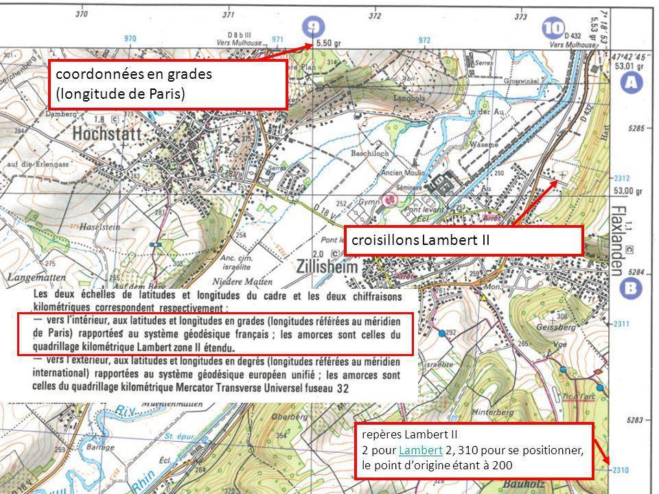 coordonnées en grades (longitude de Paris)